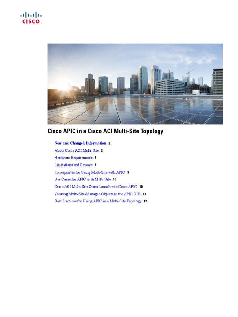b Cisco APIC and Cisco ACI Multi-Site | Network Topology | Computer