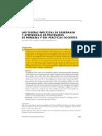 2016 - Las Teorías Implícitas de Enseñanza y Aprendizaje de Profesores de Primaria y Sus Prácticas Docentes