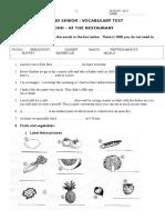 4- Test - Food- August