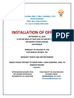 Installation of Officers Flier Sept 16 2018