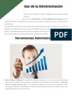 10 Herramientas de La Administración Moderna