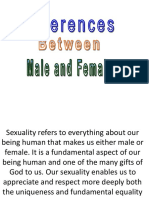 Differences male