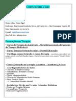 Curriculum Vitae Terapeuta Holistica