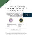 CFTC / SEC Flash Crash Report 10-01-2010