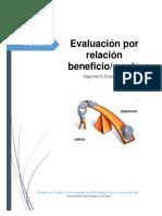 Evaluación Por Relación Beneficio