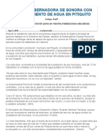 01-08-2018 Cumple Gobernadora de Sonora Con Abastecimiento de Agua en Pitiquito - Reporte Indigo