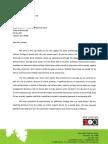DFA Letter Cash Flow