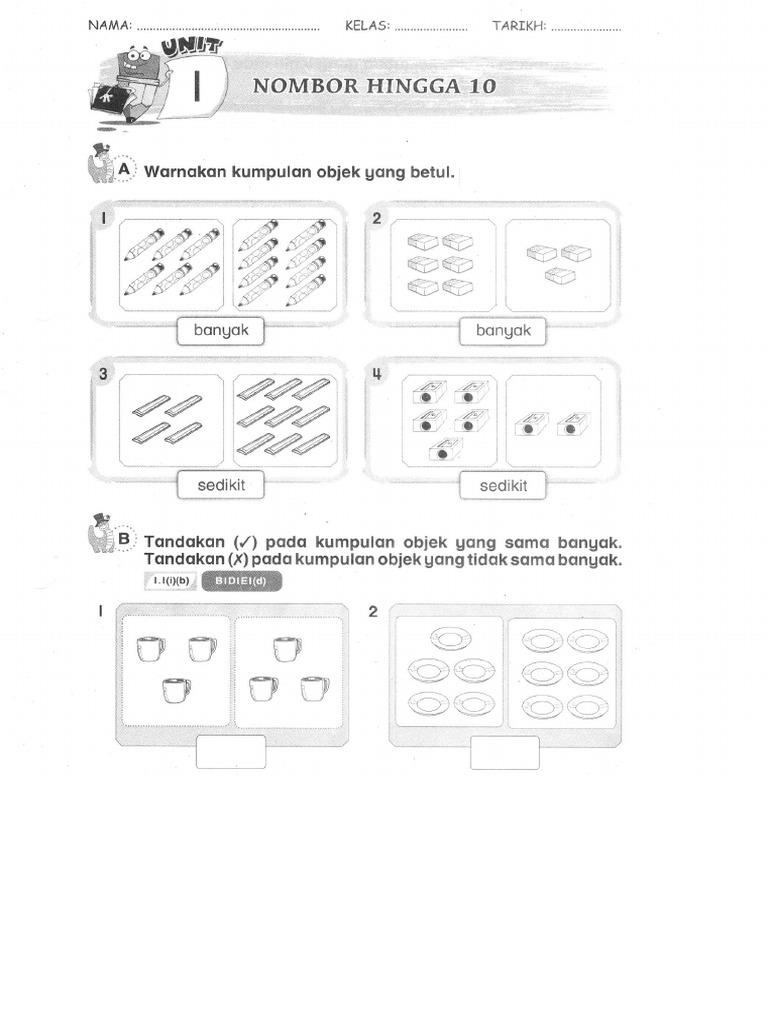 Latih Tubi Soalan Latihan Matematik Tahun 1