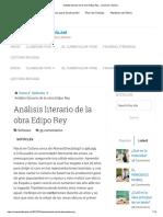 Análisis Literario de La Obra Edipo Rey – Creación Literaria