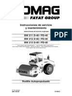 Manual de rodillo Bomag BW211D-40
