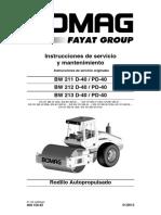 Manual de rodillo Bomag BW211D-40