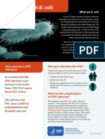 CDC E. Coli Factsheet