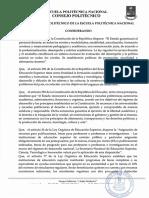 Codificación Del Reglamento de Becas Ayudas Económicas y Decuentos de La Escuela Politécnica Nacional