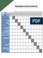Cronograma de Capacitaciones 2016