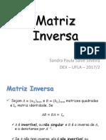 03 Matriz Inversa e Determinante Complemento