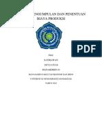 ISMAIL - MAKALAH METODE DAN PENENTUAN PRODUKSI.docx
