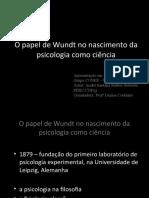 O papel de Wundt no nascimento da psicologia como ciência
