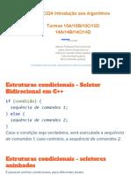 Aula 5 Exemplos de Uso de Estruturas Condicionais