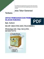 NO.HP:0822-5705-4455(TELKOMSEL), ALAT PENETAS TELOR BEBEK
