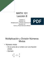 Números Mixtos Lección 8
