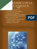 Unidad II. i Base Quimica de La Vida.