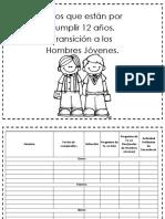 NINOS DE 12 ANOS EN TRANSICION A HOMBRES JOVENES LISTA PRIMARIA LDS SUD