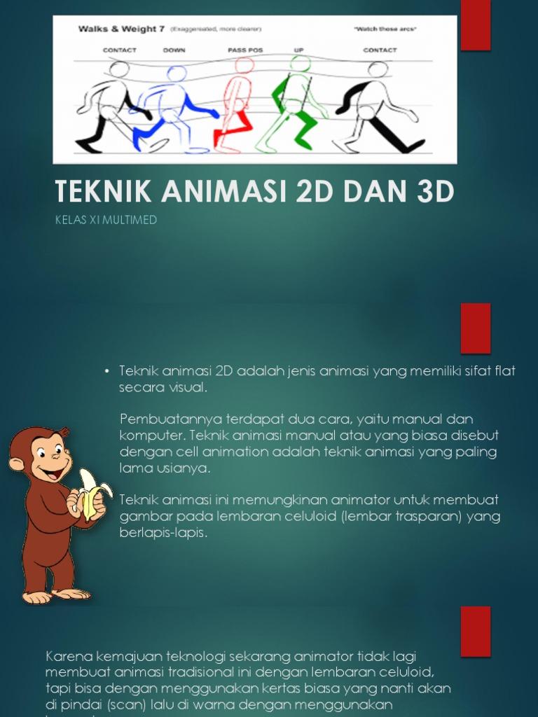 Presentasi Teknik Animasi 2d Dan 3d