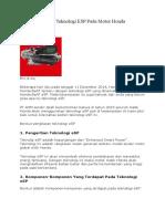 Teknologi ESP Pada Motor Honda