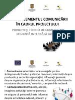 Curs 8 - Managementul comunicării în cadrul proiectului