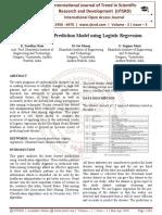 A Heart Disease Prediction Model using Logistic Regression