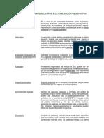 Glosario de Términos Relativos a La Evaluación de Impactos Ambientales