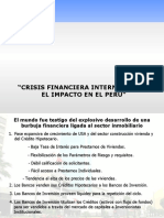 Impacto de La Crisis Financiera Internacional en El Peru