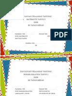 Cover Rancangan Pelajaran Tahunan. 2018docx