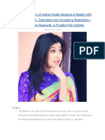 Childhood Dream of Becoming an Actress Finally Became a Reality with Sheer HardWork, Dedication and Accepting Rejections - Sawan Rupowali, Punjabi Film Actress in Conversation with MentorClub.in