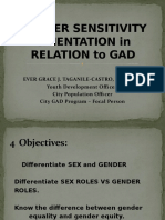 Gender Sensitivity Orientation in relation to GAD