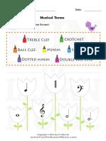 Music Worksheets UK Easter Musical Terms 001