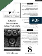 Vita Brevis, revista electrónica de estudios de la muerte. Número 8