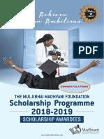 Madhvani Scholarship awardees 2018-2019