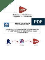 Protocole D_exportation Et de Modification D_une Maquette Ifc Depuis Revit Et Importation Dans Cypecad Mep