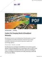 Explore the Changing World of Broadband Networks