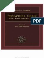 GOMPERZ Pensatori Greci Storia Della Filosofia Antica Vol 1 (Cap IV Anassagora pg 334).pdf
