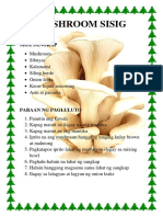Mushroom Sisig