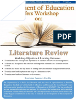 Workshop on Literature Review - Flyer