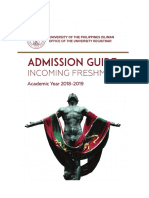 UP Admission Guide 2018-2019