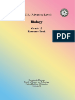 Grade 12 - Biology Resource Book