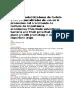 Bacterias solubilizadoras de fosfato y sus potencialidades de uso en la promoción del crecimiento de cultivos de importancia económica.pdf