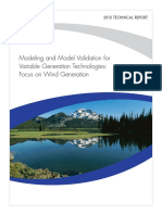 Moelling and Model Validation of Variable Energy Resource EPRI