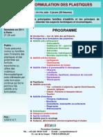 Formation Continue Additifs & Formulation Des Plastiques 2011