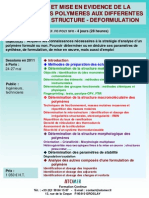 Formation Continue Analyse Structure Des Polymeres on 2011