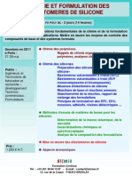 Formation Continue Chimie & Formulation Des Elastomeres de Silicone 2011
